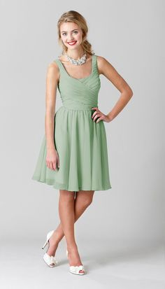 Quinn Chiffon Bridesmaid Dress - Kennedy Blue - $155