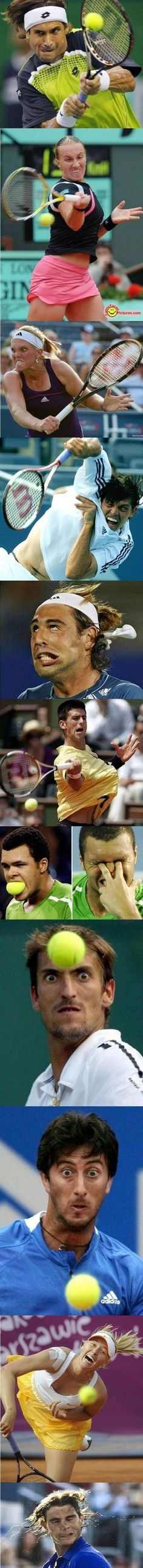 Got a case of tennis face? These people do! Lol!