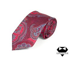 CRAVATA EXTRAVAGANTA ROSU ROZ PAISLEY GENT'S CLUB Club, Paisley, Ties, Floral, Model, Accessories, Fashion, Tie Dye Outfits, Moda