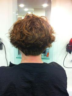 Bob, perm, curly, natural, asymmetric, short, wave, curly perm