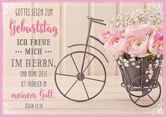 Postkarte mit Bibeltext Format: 10,5 cm x 14,8 cm Bibeltext aus Jesaja 91,10: Ich freue mich im Herrn, und meine Seele ist fröhlich in meinem Gott.