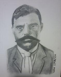 dibujo de Zapata a carboncillo
