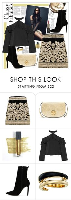 """Paris Mini Skirt - BP"" by biange ❤ liked on Polyvore featuring For Love & Lemons, Chanel, Tory Burch, Bite, By Terry, Alice + Olivia, ALDO, Michael Kors and L'Oréal Paris"