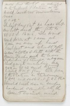 Shackleton's diary entry from 9 January 1909, the day they reached farthest south.