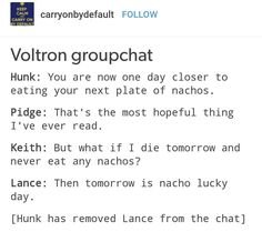 Lance is a gift to the universe.