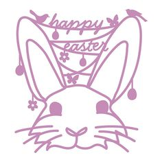 Easter Bunny Head Cut File .SVG .DXF .PNG