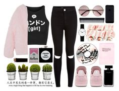 """""""Untitled #66"""" by roxeyturner ❤ liked on Polyvore featuring Illustrated People, adidas, New Look, Billabong, ASOS, GHD, Narciso Rodriguez and Rosendahl"""