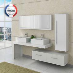 White bathroom furniture set 2 washbasins Source by fffpub Raw Furniture, White Bathroom Furniture, Grey Bathroom Tiles, Bamboo Bathroom, Bathroom Interior Design, Furniture Sets, Bedroom Cupboard Designs, Bedroom Cupboards, Bath Cabinets