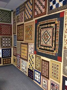 Walls of little quilts