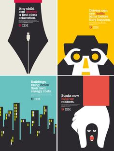 Paul Rand's silouette is sooo creative!  Take a close look and the texts to see what you can think of