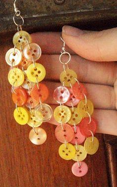 Beautiful cascade button earrings
