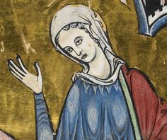 """Detail from """"The Rutland Psalter"""", medieval (c1260), British Library Add MS 62925. f 55r"""