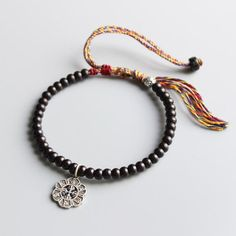 6mm Red Crystal 108 Beads Om Pendant Bracelet Unisex Healing spirituality Lucky