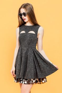 Sophie Cut-out Fit'n Flare Dress by #ShallowMint  is now in stock! Details on #http://shallowmint.com/all-items/sophie-cut-out-fit-n-flare-dress.html