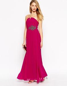 Shop Little Mistress Maxi Dress With Embellished Waist at ASOS. Maxi Robes, Chiffon Maxi Dress, Ruched Dress, Asos, James Bond Dresses, Bridesmaid Dresses, Prom Dresses, Formal Dresses, Bride Dresses