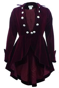 The-Velvet-Wine-Waterfall-Victorian-Gothic-Ruffle-Style-Jacket-USA-Stock-0