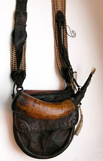 Contemporary Makers: Gary Birch Bag and Horn for Hayden Allen Pioneer Clothing, Flintlock Rifle, Powder Horn, Longhunter, Hunting Bags, Long Rifle, Medicine Bag, Mountain Man, Leather Projects