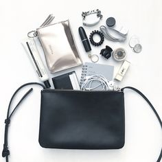 dd1884785a50 flatlay I am currently loving this trio bag from mango. It has 3  compartments. What In My ...