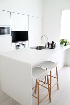 Modern white kitchen  @venlasof