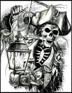 Perfect Pirate Skull Tattoo 12 In Design Tattoos With Pirate Skull Tattoo Pirate Art, Pirate Skull, Pirate Life, Pirate Ships, Pirate Skeleton, Skull Tattoos, Sleeve Tattoos, Tatoos, Pirate Tattoo Sleeve