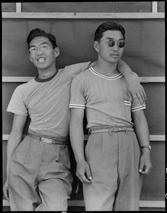"Dorothea Lange 1942 ""College students of Japanese ancestry who have been evacuated from Sacramento"""