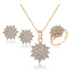 Brand African Jewelry Set Necklaces & Pendants Earrings Rings Brincos Bijoux Women Bijuterias Fashion Jewellery Set 15S18-78