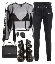 """Sin título #2756"" by camilae97 ❤ liked on Polyvore featuring Yves Saint Laurent, NYX, Unravel, Givenchy, Balenciaga and Ray-Ban"