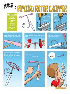 These inventive cartoons show kids how to make cool stuff, from spring- loaded chopsticks to a CD hovercraft and a trash-bag raincoat.