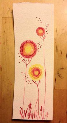 Voglio il mondo a colori - Segnalibri ad acquerello (2)