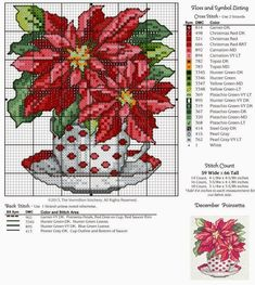 ♥Meus Gráficos De Ponto Cruz♥: Arranjos Florais em Xícaras Românticas (Ponto Cruz)