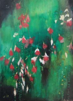 """Saatchi Online Artist Katrine Claassens; Painting, """"Hanging Basket, Victoria, Vancouver Island III"""" #art"""