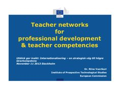 Teacher networks, teacher digital competence and professional devel...