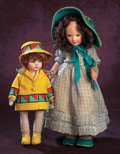 A Cherished Collection - Madame Andrée Petyt: 319 Italian Cloth Doll by Lenci with Original Costume and Box