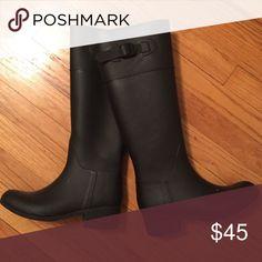 Rubber rain boots BRAND NEW rain boots ; never worn ; rubber ! none Shoes Winter & Rain Boots