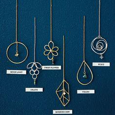 zakka collection [雑貨コレクション]|イラストレーター 山本祐布子さんと作った 6つの自然が耳もとで揺れるドローイングラインピアスの会(6回限定コレクション)|フェリシモ