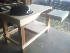 Build A kettle grill table | Weber grill station - by mcwillystylez @ LumberJocks.com ~ woodworking ...