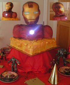 Iron Man 3D Cake By kari03 on CakeCentral.com