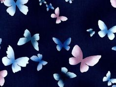 Dark Blue Fabric with Butterfly Motif, Summer Breeze by Fabri-Quilt, 100% Cotton Fabric sold By-The-Yard, 112-26651 by StashTraders on Etsy