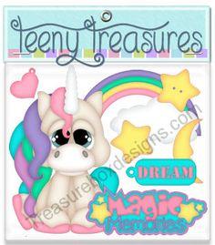 Teeny Treasures (Unicorn)  - Treasure Box Designs Patterns & Cutting Files (SVG,WPC,GSD,DXF,AI,JPEG)