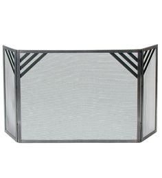 American-Made Hammered-Steel Chevron Fireplace Screen