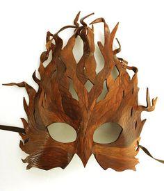 Tree Mask  MADE TO ORDER Leather Mask by OakMyth on Etsy, $85.00