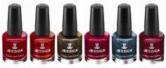 JESSICA Glamarama winter 2012 nail polish collection.  Ask about JESSICAs amazing healing base coats.