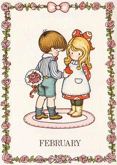 A Birthday Book ~ Joan Walsh Anglund ~ Determined Productions, 1975 Vintage Paper Dolls, Vintage Children's Books, Vintage Cards, Vintage Postcards, Vintage Images, My Funny Valentine, Vintage Valentines, Happy Valentines Day, Valentine Cards