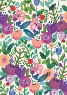 Floral Garden by Rosie Harbottle