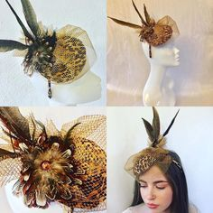 "JH Couture Millinery on Instagram: ""Marie modeling One of my Vintage Inspired Brooch & Feather Fascinators🌹❤️l love this little hat it's really quirky and fun !!I must make a…"" Feather Hat, Fascinators, Vintage Inspired, Modeling, Brooch, Couture, Hats, How To Make, Fun"