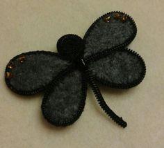 Broszka filc + zamek ( felt + zipper )