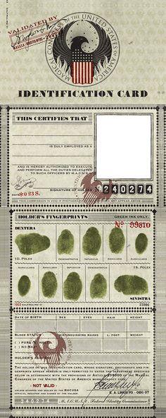 M.A.C.U.S.A. Cartão de identificação da Macusa