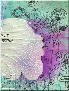 Fast and Fun Symmetrical Art Journal Background by Stephenie Hamen | www.rangerink.com
