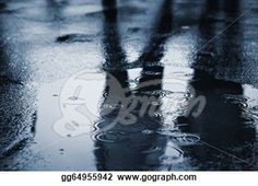"""""""Puddle of water in rain"""" - Rain Stock Photo from Go Graph"""