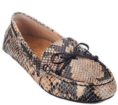 Vionic Anchor Womens Leather Loafters Natural Snake - 7.5 >>> You can get additional details at the image link.